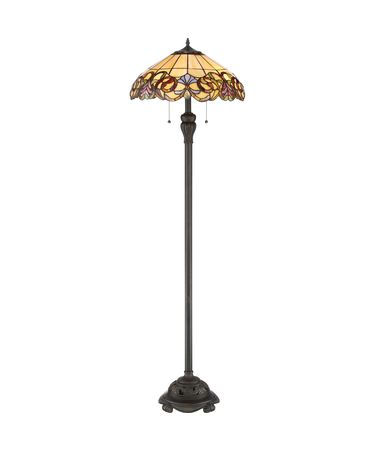Shown in Imperial Bronze finish and Tiffany glass