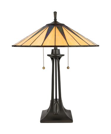 Shown in Vintage Bronze finish and Tiffany shade