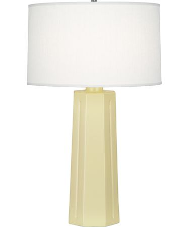 Shown in Polished Nickel-Butter finish and Oyster Linen shade