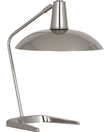 Shown in Polished Nickel finish and Metal shade