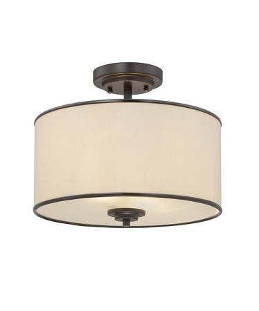 Shown in English Bronze finish and Cream Fabric shade