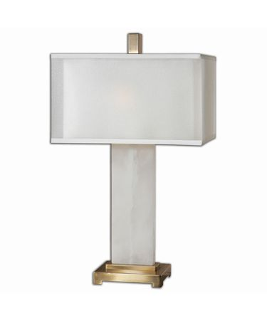 Shown in Coffee Bronze finish and Double hardback rectangle box shade