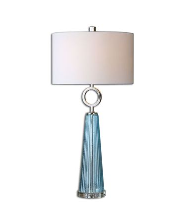 Shown in Polished Nickel finish and White Linen shade