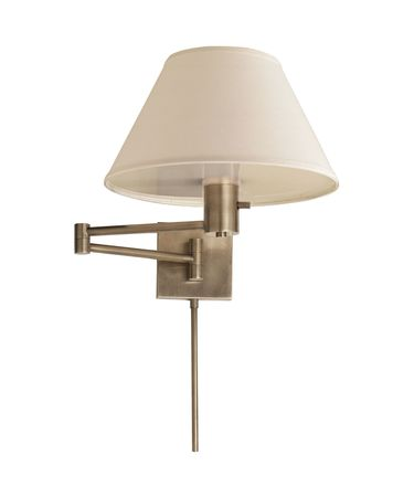 Shown in Antique Nickel finish and Linen shade