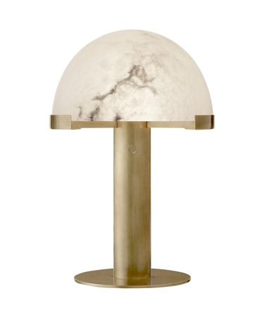 Shown in Antique-Burnished Brass finish and Alabaster glass
