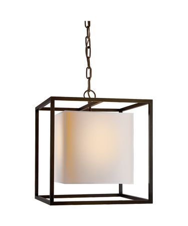 Shown in Bronze finish and Natural Paper Cube shade