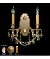 American Brass and Crystal WS9302 Elisa 13 Inch Wall Sconce