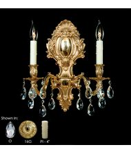 American Brass and Crystal WS9424 9420 Series 14 Inch Wall Sconce