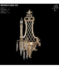 American Brass and Crystal WS9453 9450 Series 10 Inch Wall Sconce