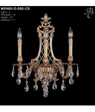 American Brass and Crystal WS9455 9450 Series 16 Inch Wall Sconce