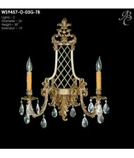 American Brass and Crystal WS9457 9450 Series 26 Inch Wall Sconce