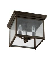 12 Inch Wide 3 Light Outdoor Flush Mount