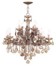 crystorama maria theresa 30 inch wide 12 light chandelier - Crystorama