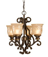 Crystorama 7404 Norwalk 17 Inch Mini Chandelier