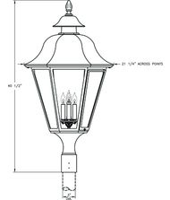 Hanover Lantern B6130 Manor X-Large 4 Light Outdoor Post Lamp