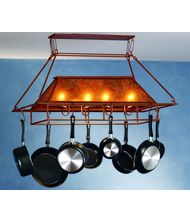 Meyda Lighting 77830 Simple Mission 39 Inch Lighted Pot Rack