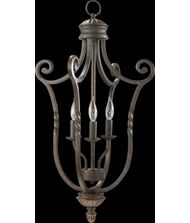 Quorum International 6878-3 Tribeca 15 Inch Foyer Pendant