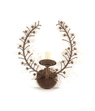 Wildwood 60056 Crystal Leaves Sconce 14 Inch Wall Sconce